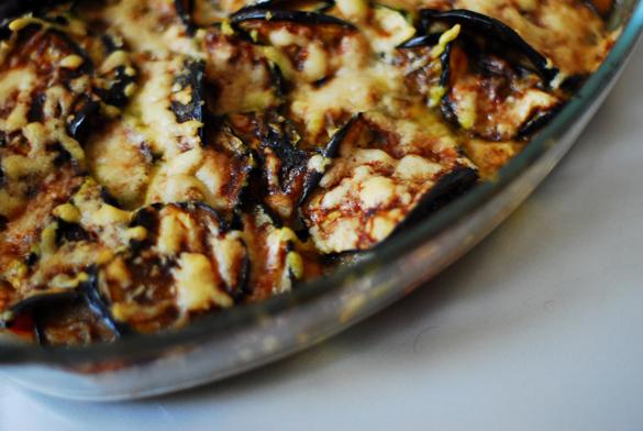 Courgette parmesan