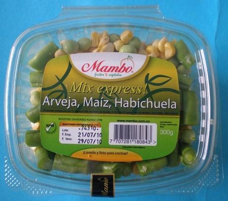 Mix Express - Arveja-Maíz-Habichuela