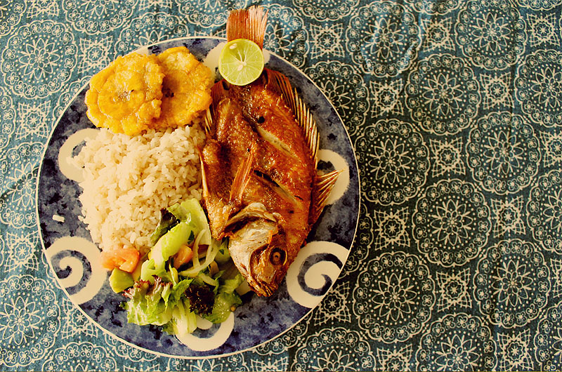Coconut rice and pargo